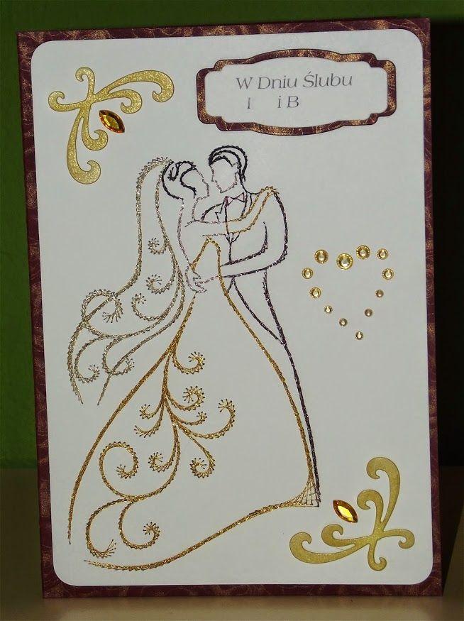 Haft matematyczny Ślub wedding ślub stiching cards