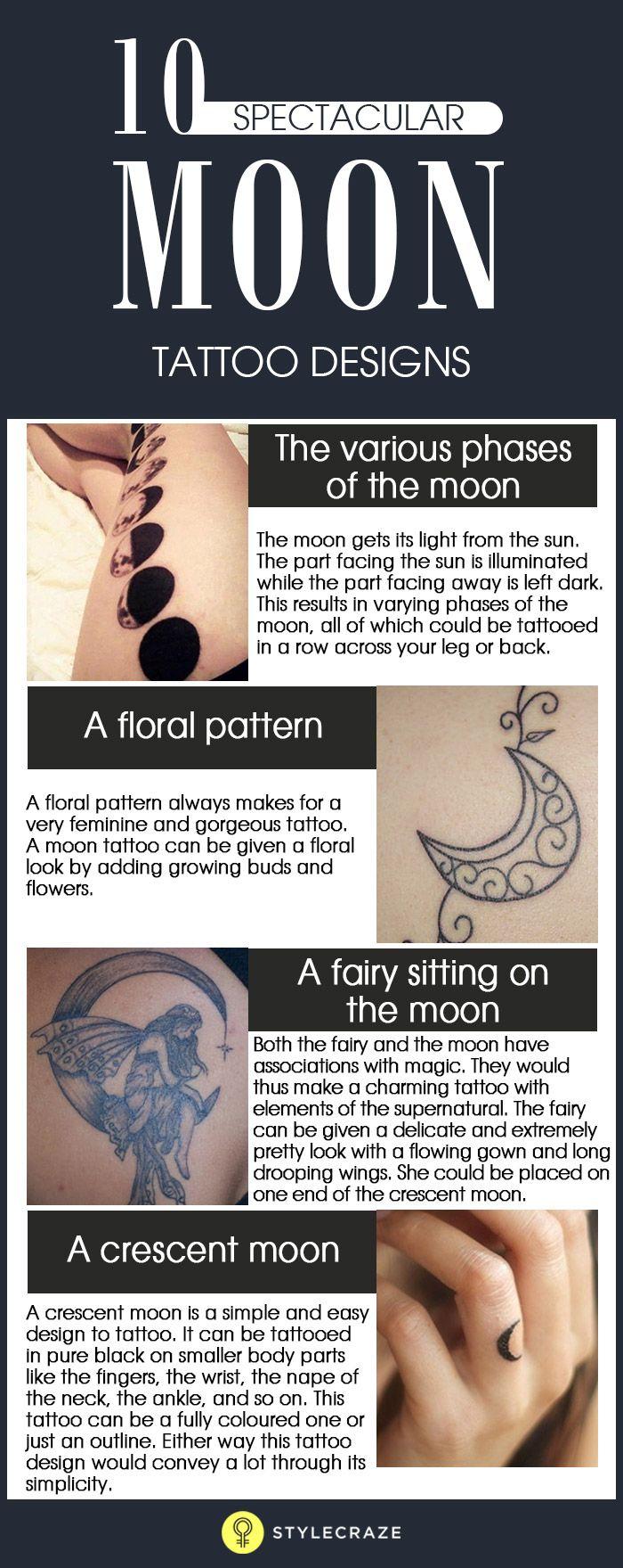 10 Spectacular Moon Tattoo Designs