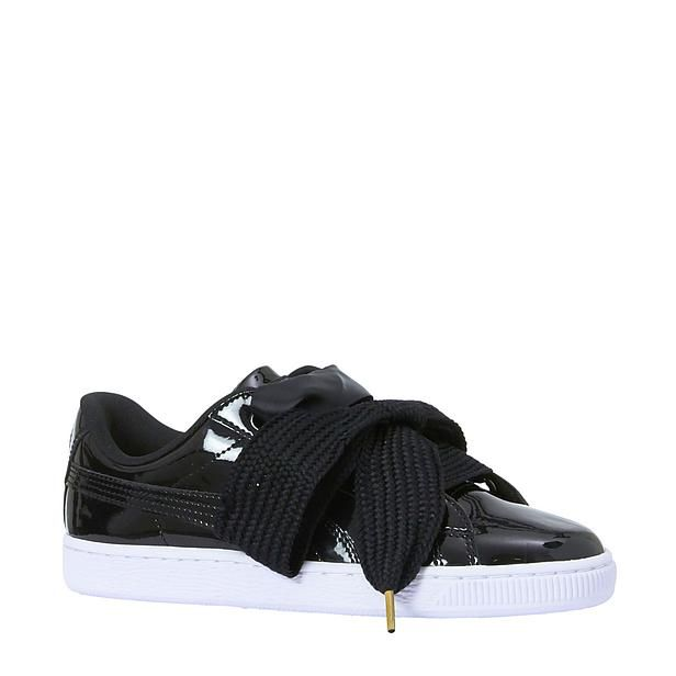 Basket Heart Patent sneakers - Zwart, Schoenen en Leuke schoenen