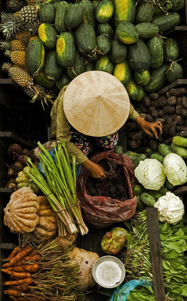 Pływający rynek Cai Rang, delta Mekongu. Odkrywaj świat z herbatami #Big-Active.   www.smacznaherbata.pl/big-active/odkryj-swiat