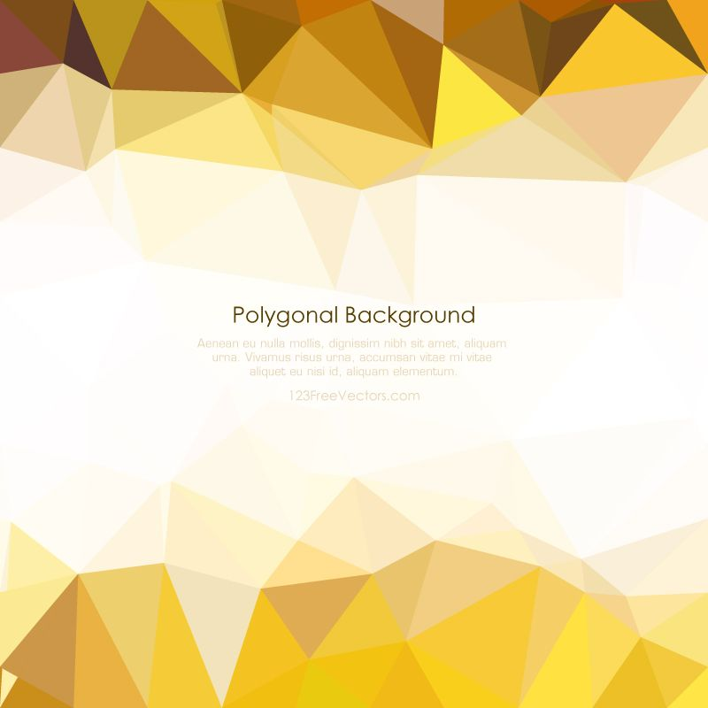 Light Gold Abstract Low Poly Background Clip Art