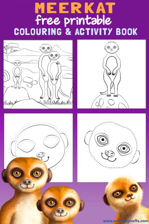 Meerkat Colouring Book Printable Colour In Join The Dots And