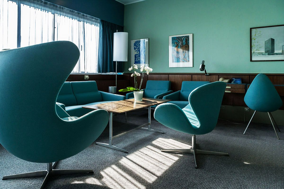 Arne jacobsen interior interior of the sas royal hotel in copenhagen denmark designed by