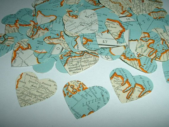 500 vintage map hearts from a 1939 atlas lovely punches for table 500 vintage map hearts from a 1939 atlas lovely punches for table confetti on etsy gumiabroncs Images