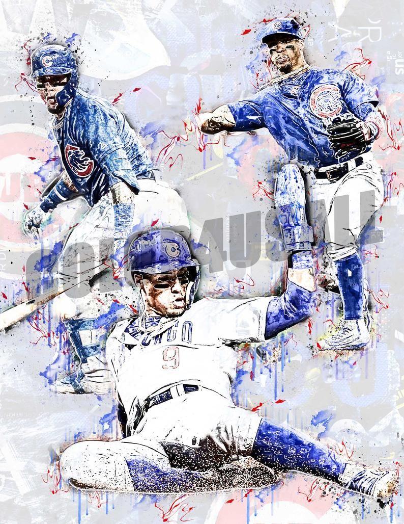 javier baez chicago cubs poster