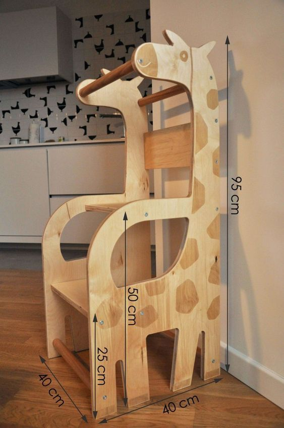 Kids Bedroom Furniture Kids Wooden Toys Online: Learning Tower Giraffa