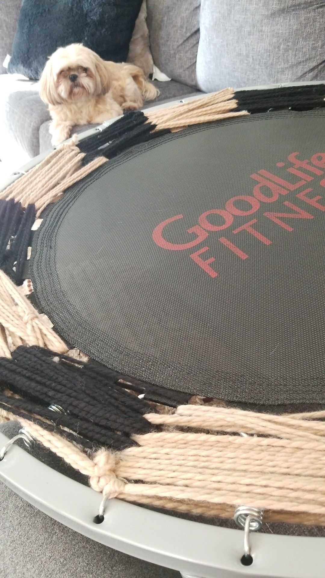 Mini Trampoline side springs cover DIY fix Mini