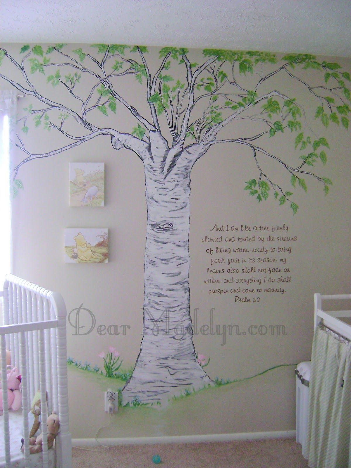 Classic Pooh Wall Art Dad Could Probably Paint Something Like This Eventually Nursery Baby Room Winnie The Pooh Nursery Baby Room Design