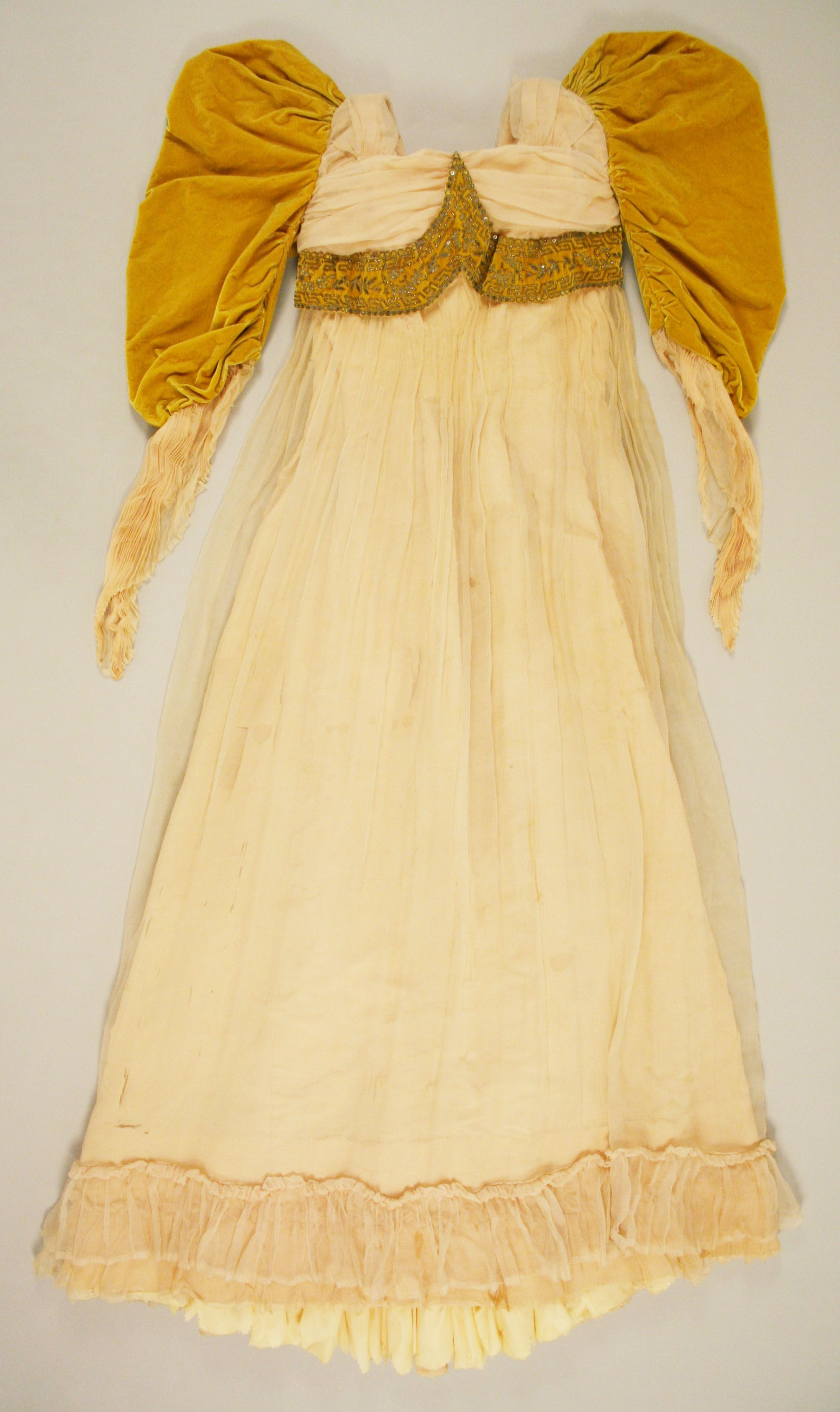 1891, France - Evening dress - Silk, glass, metal