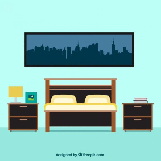 Bedroom Furniture Free Vector رسوم House Vector Bedroom