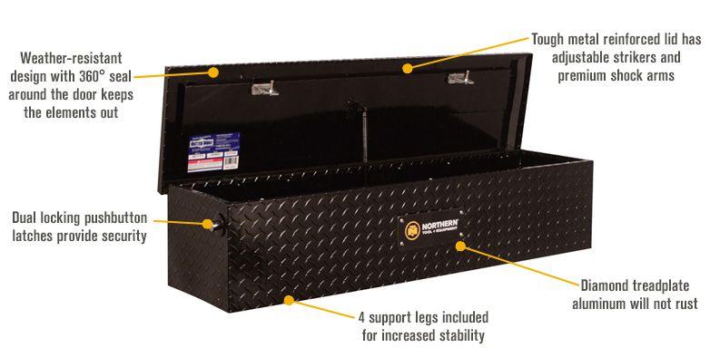 Northern Tool In 2020 Truck Tool Box Black Truck Tool Box Truck Bed Rails