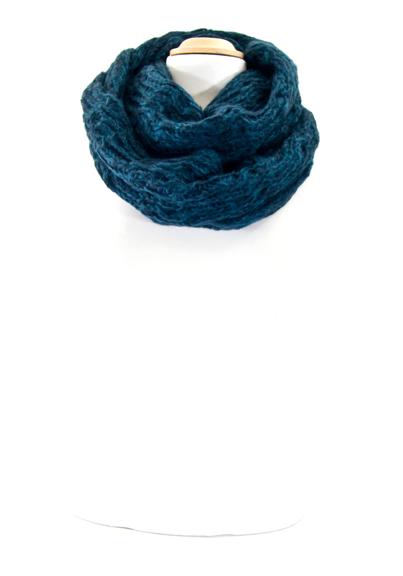 Echarpe tube snood maille bleu chiné  mesecharpes.com http   www ... d4d09e6f4d4
