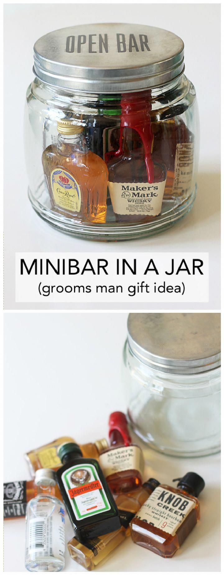 Mini Bar In A Jar Gift 35 Unique Diy Mason Jar Gifts For Everyone I Heart Crafty Mason Jar Gifts Diy Mason Jar Diy