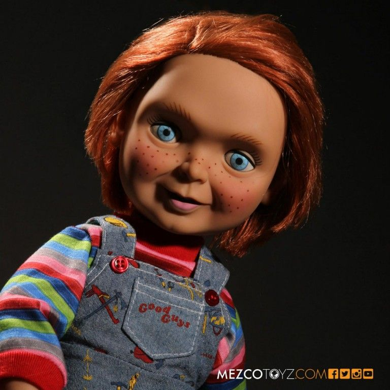 Mezco Toys announced their new Chucky doll that speaks. The 15-inch tall  doll will say four signature phrases from the former