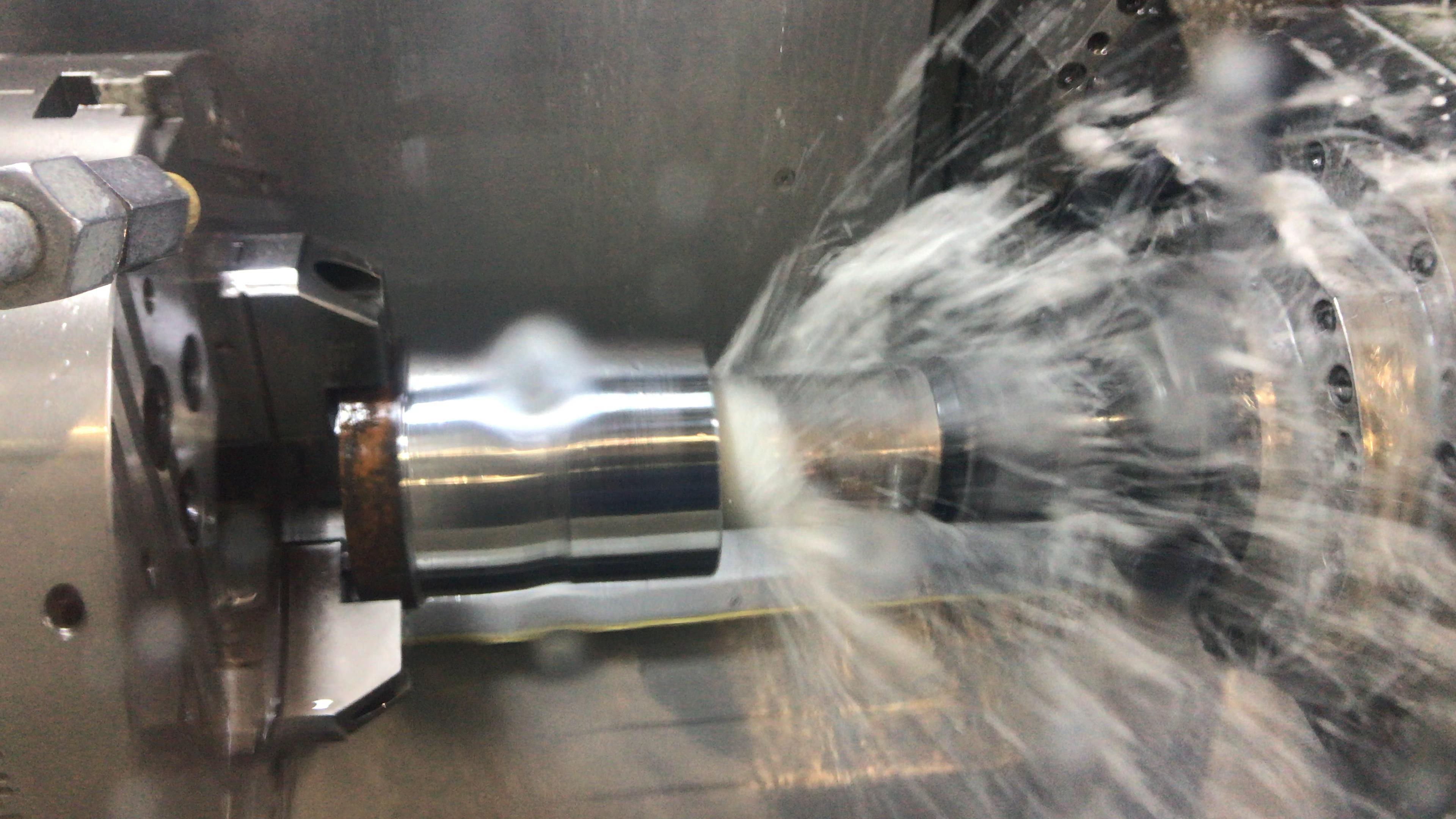 Sandvik 2 5 880 drill rotating on B axis DMG CTX Beta 1250