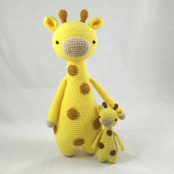 Mini Jirafa Patrón de Crochet Patrón de Ganchillo Amigurumi | Etsy | 570x570