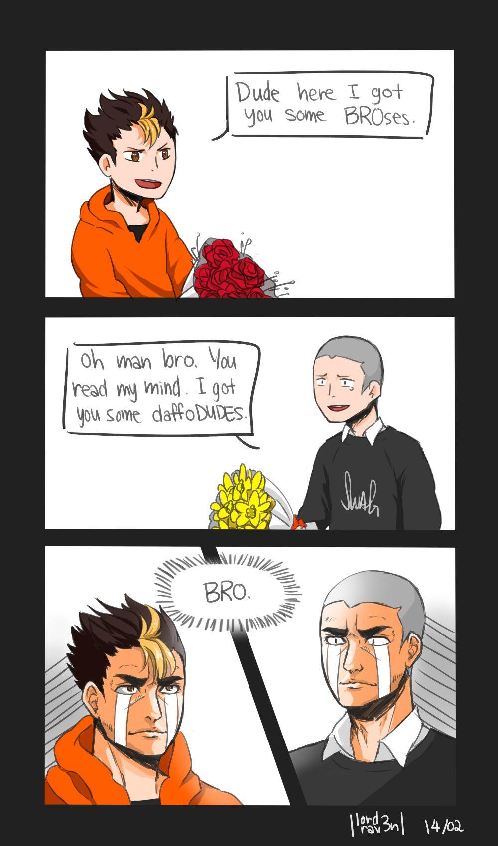 "lordrav3n ""nohomo bro. happy valentines day once again"