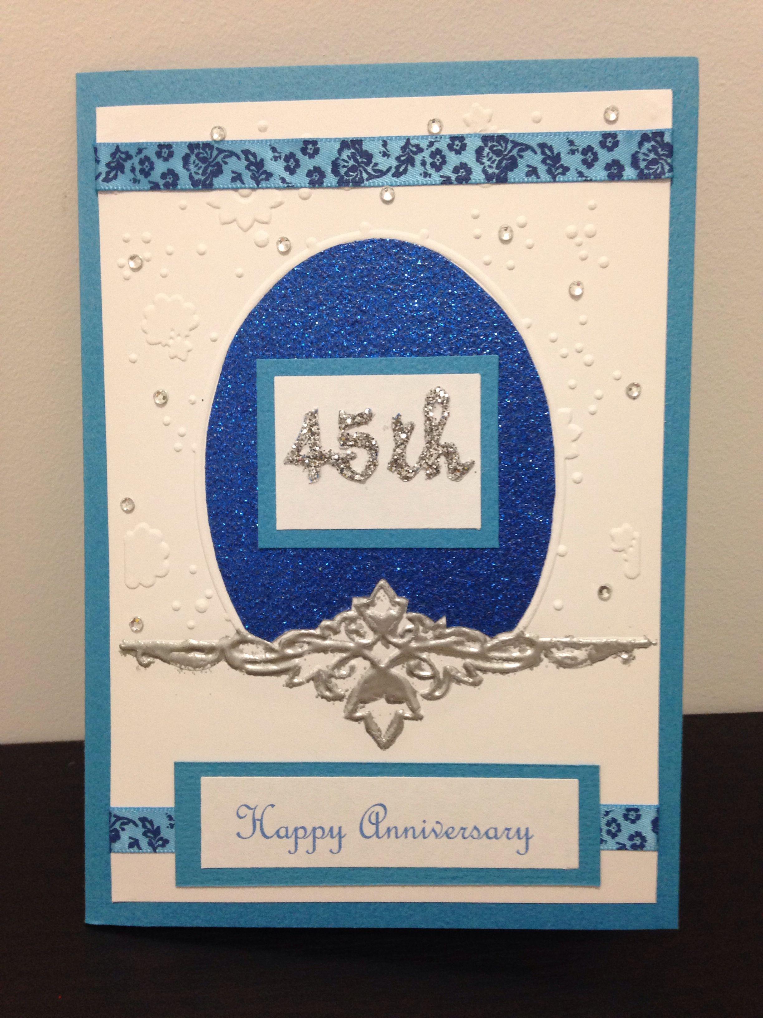 45th wedding anniversary card Anniversary cards, Happy