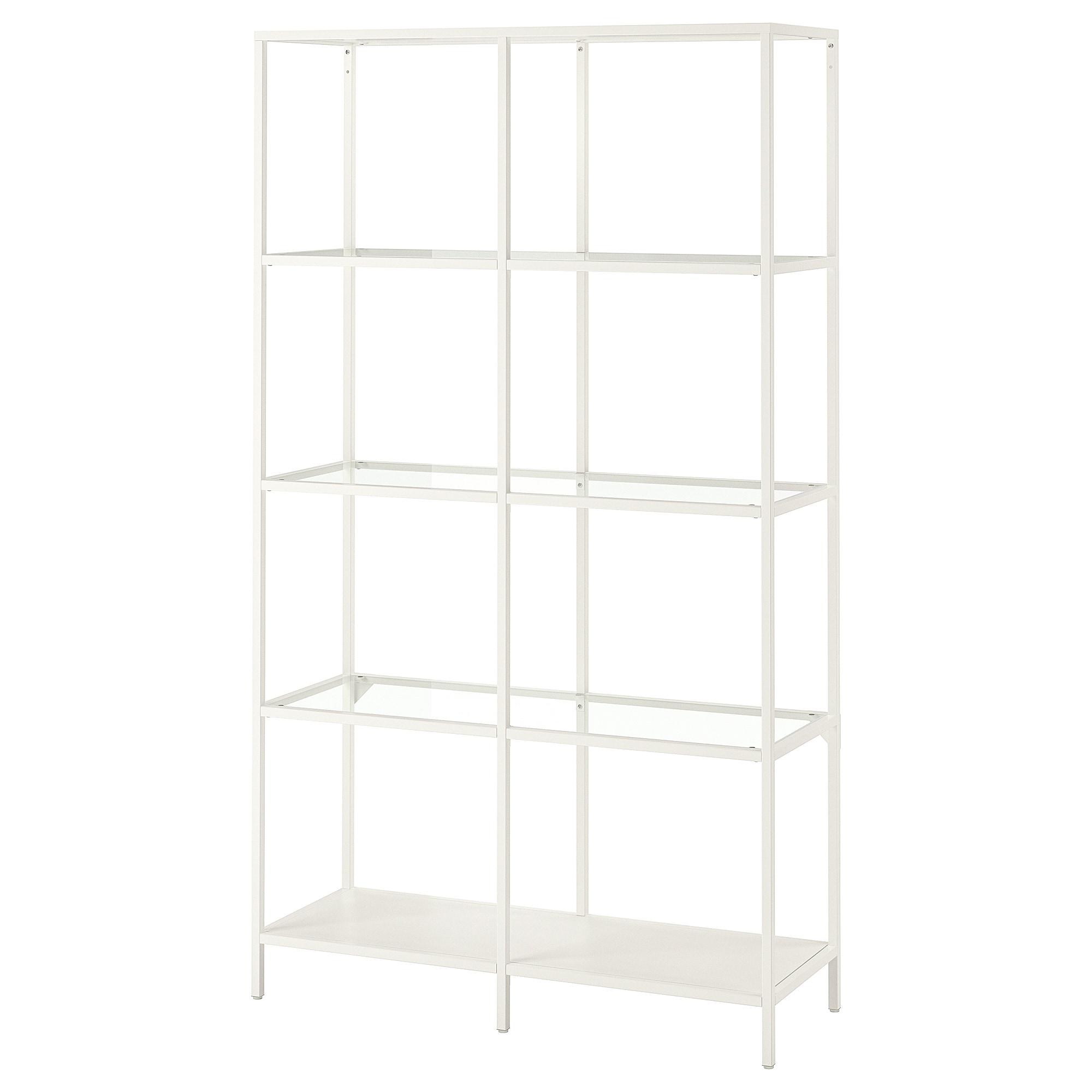 Vittsjo Shelf Unit White Glass Width 39 3 8 Ikea Wall Shelf Unit Shelf Unit Glass Shelves
