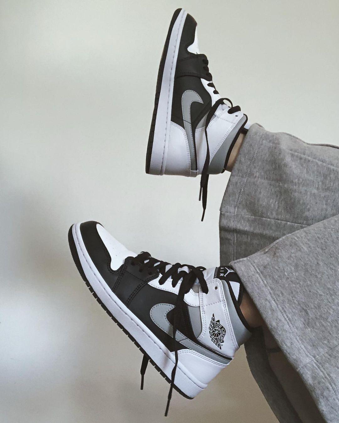 Air Jordan 1 Mid White Shadow | Jordan shoes girls, Swag shoes ...