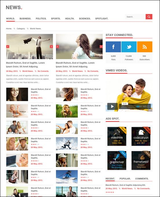 news-theme | Blog | Pinterest | Columns, Wordpress magazine themes ...