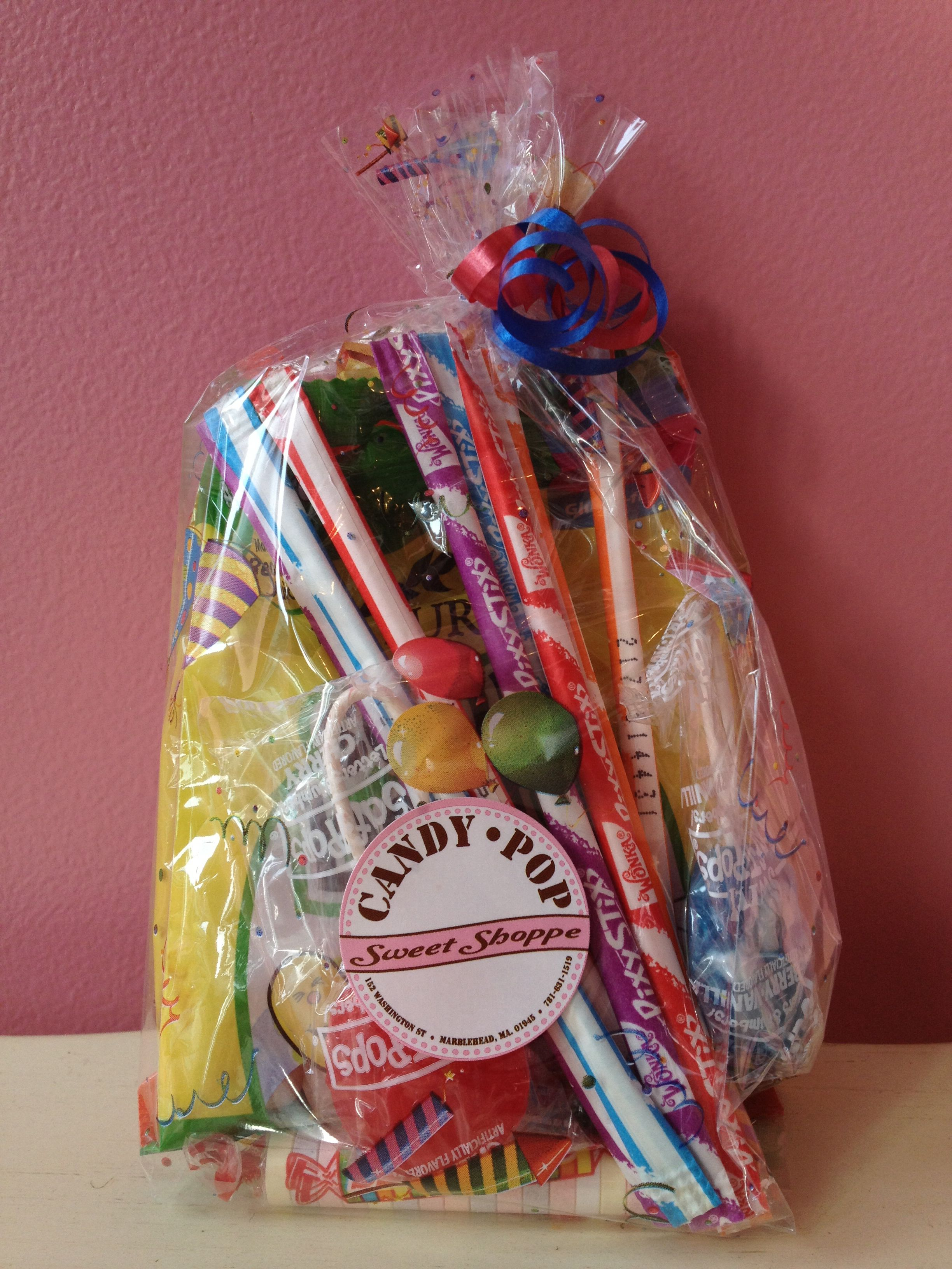 Candy birthday party favor candy birthday party