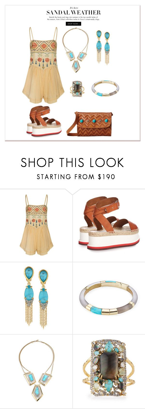 """""""Sandal Weather"""" by karen-galves ❤ liked on Polyvore featuring STELLA McCARTNEY, Alexis Bittar and American West"""