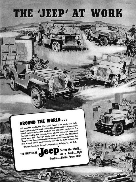 1947 Advertisement From Willys Overland Jeep In Toledo Ohio Custom Jeep Wrangler Jeep Jeep Images