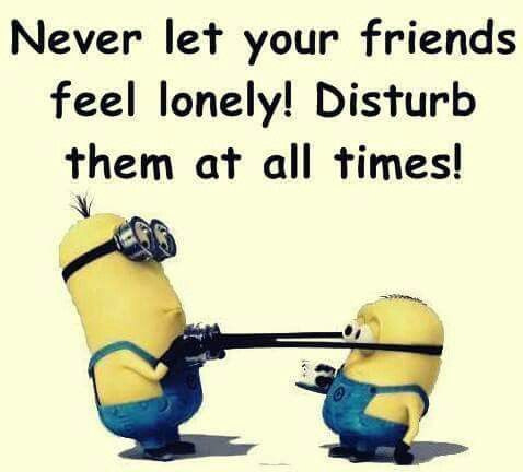 Minions funny by Sonja Lawson on Minions Feeling lonely
