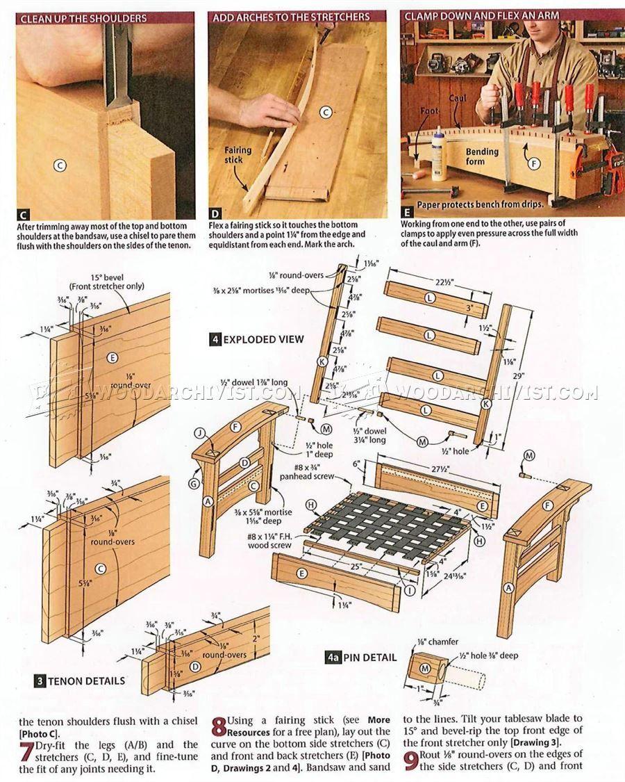Morris chair plans -  2412 Morris Chair And Ottoman Plans Furniture Plans