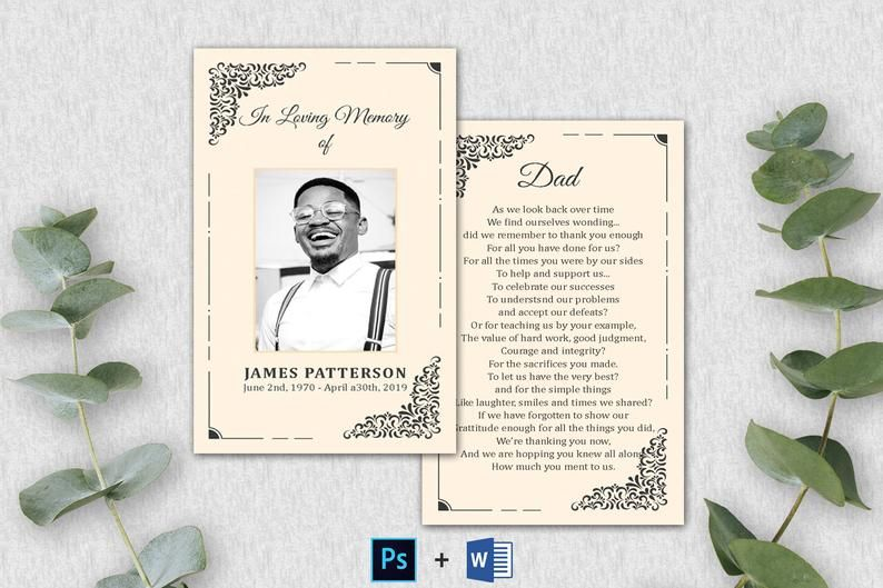 Editable Funeral Prayer Card Template Printable Memorial Etsy In 2021 Prayer Cards Funeral Prayers Memorial Cards For Funeral