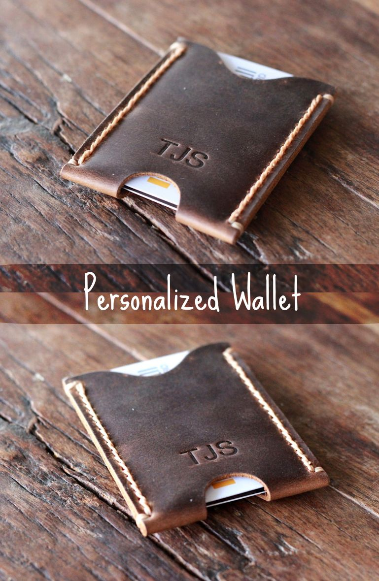 Business Card Case PERSONALIZED WALLET - Minimalist Card Wallet ...