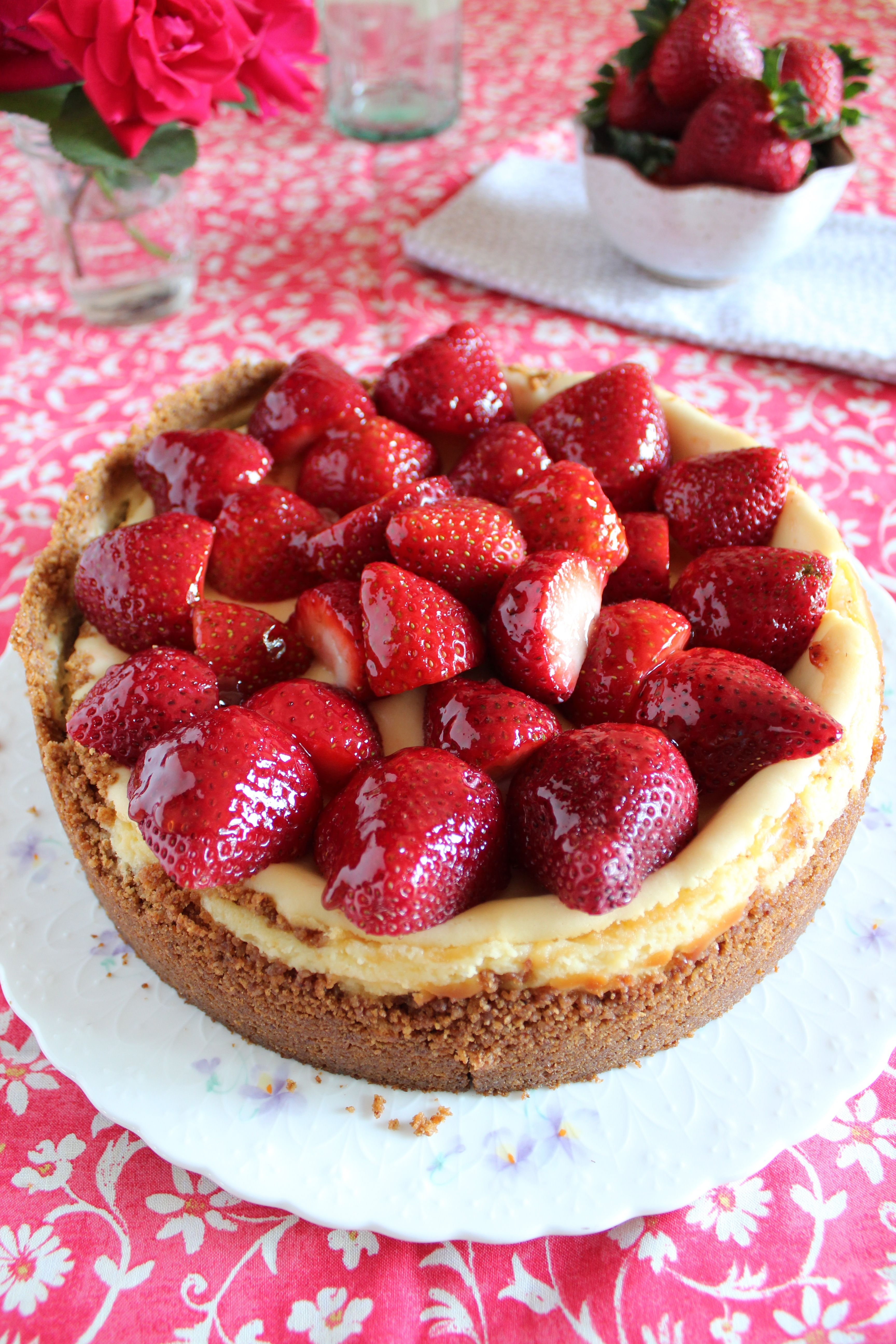 yummy-looking cheesecake
