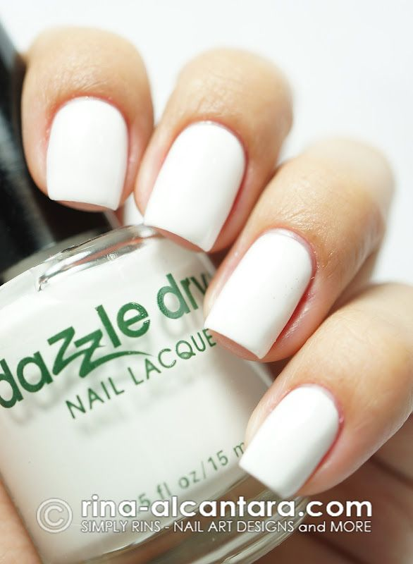 Dazzled By Dazzle Dry Simply Rins Nails Nail Polish White Nails