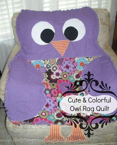 DIY~Owl Quilt- Tutorial (great Baby Gift, Birthday Or Holiday Gift For A Toddler Or Young Kid