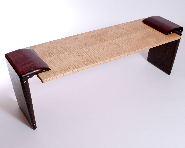 Coffee table purpleheart wenge figured maple for sale