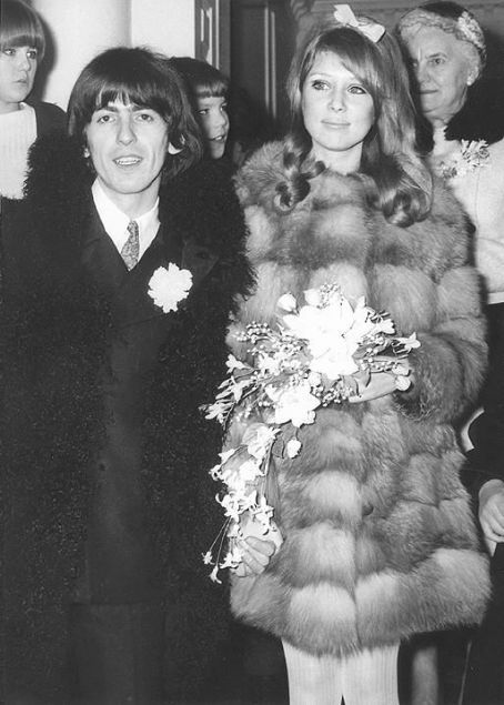 George Harrison And Pattie Boyd Wedding Day Jan 21 1966 Georges Mother