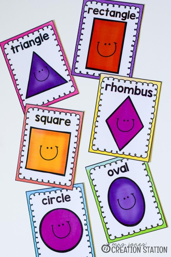 Punchy image intended for free printable shape flashcards