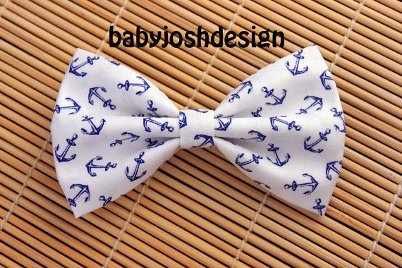 Items similar to Anchor Fabric Hair bow for teens or women,girls hair bows,basic hair bows , Hair Bows on Etsy