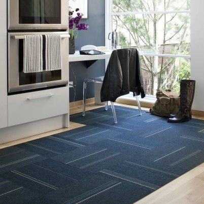 Flor Carpet Tile Style Milner Colour Blue 10