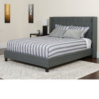 Alcott Hill Konieczny Tufted Upholstered Platform Bed Color Dark Gray Size Twin Upholstered