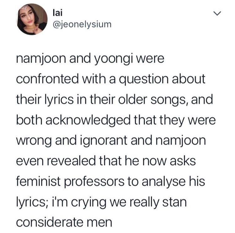 They Owned Up To Their Mistakes They Apologized They Made A Change Female Analyst There Are Other Idols Out There That Aren T Bts Tweet I Love Bts Bangtan