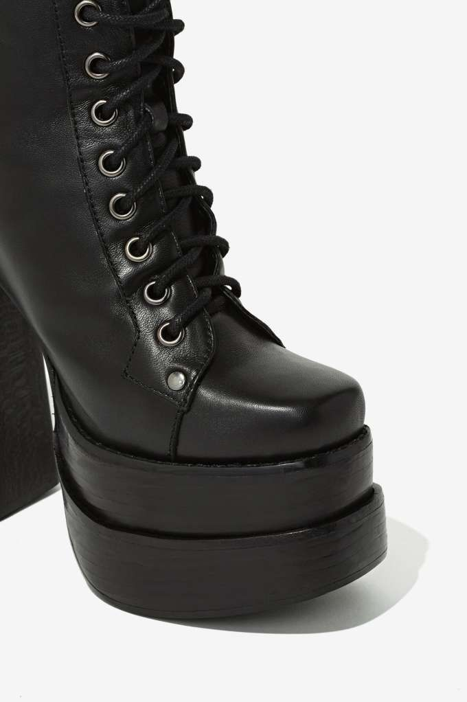 Jeffrey Campbell Ballistic Leather Platform - Lace-Up | Heels ...