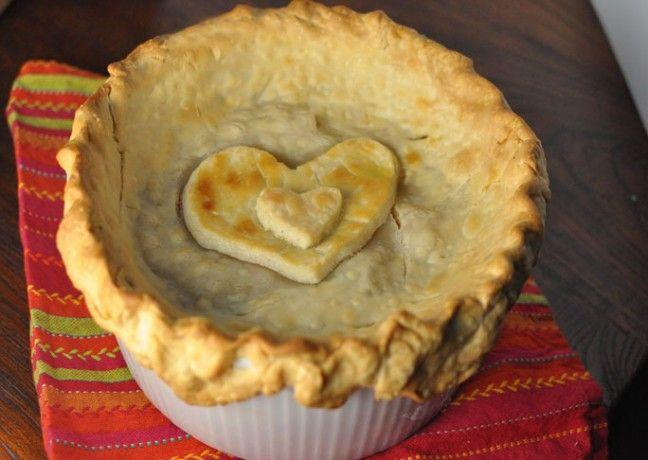 Heart Chicken Pot Pie for Valentine's Day