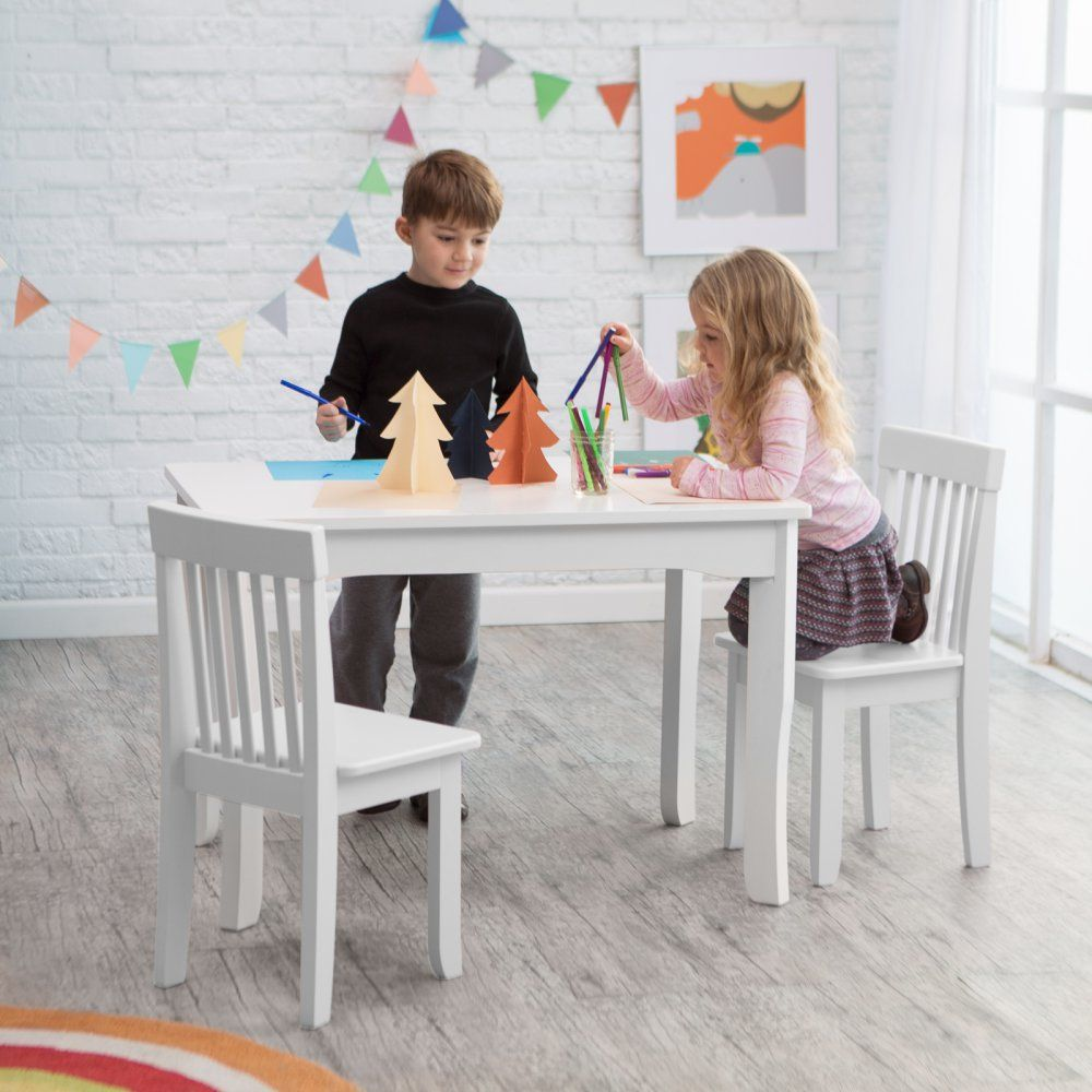 Lipper Mystic Table And Chair Set White For The