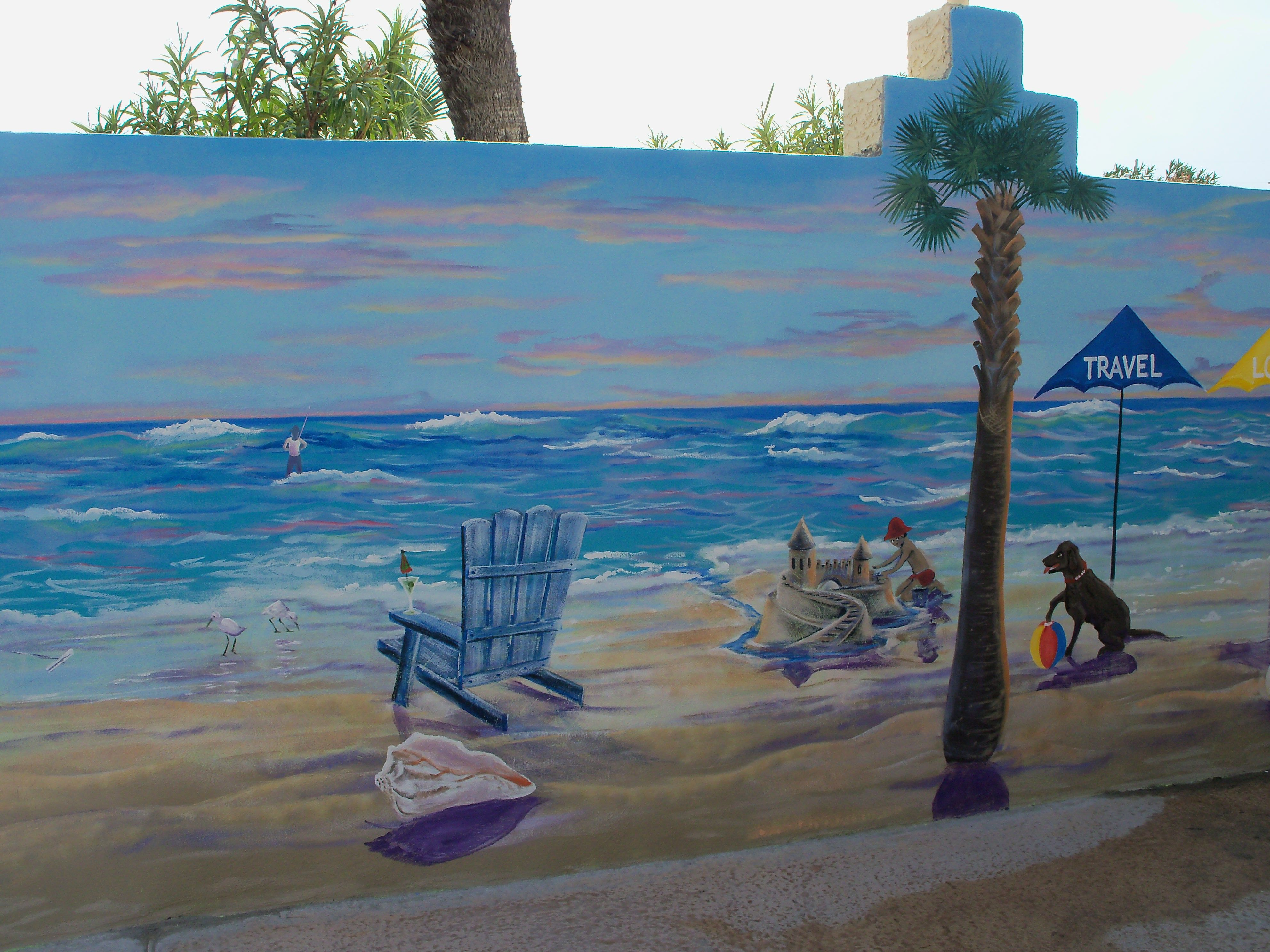 Outdoor Pool Wall Outdoor Wall Murals In 2019 Beach Wall Murals