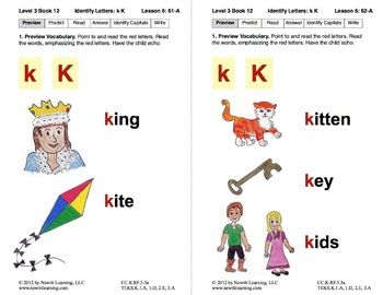 Identify The Letter K Lesson 6 Book 12 Newitt Decoding Series