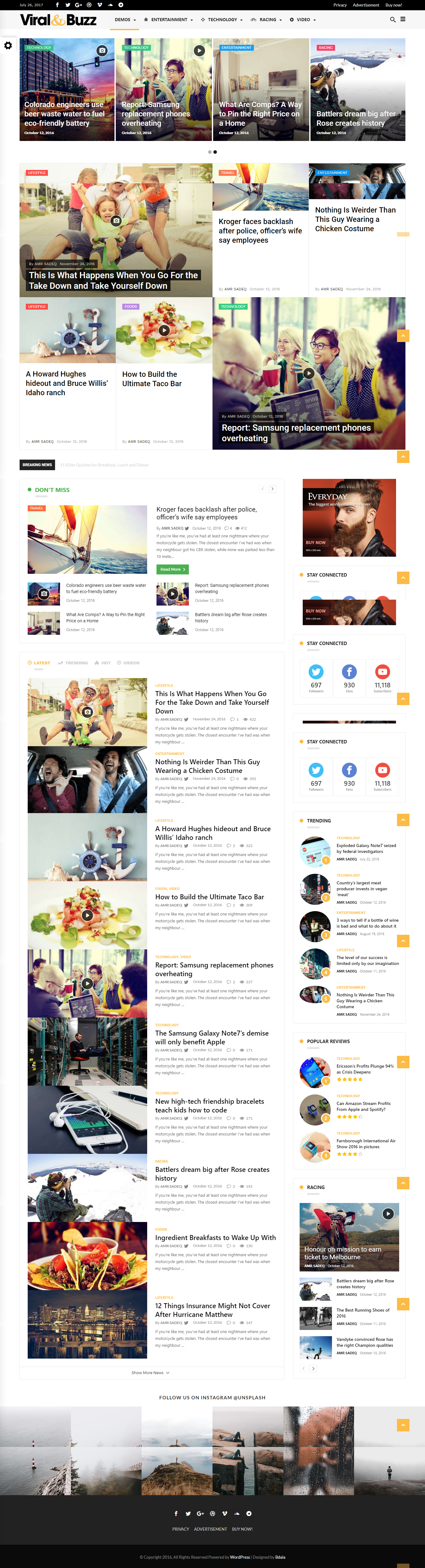 Blog Website Templates Everyday  Modish News Magazine And Blog Theme  Blog Templates