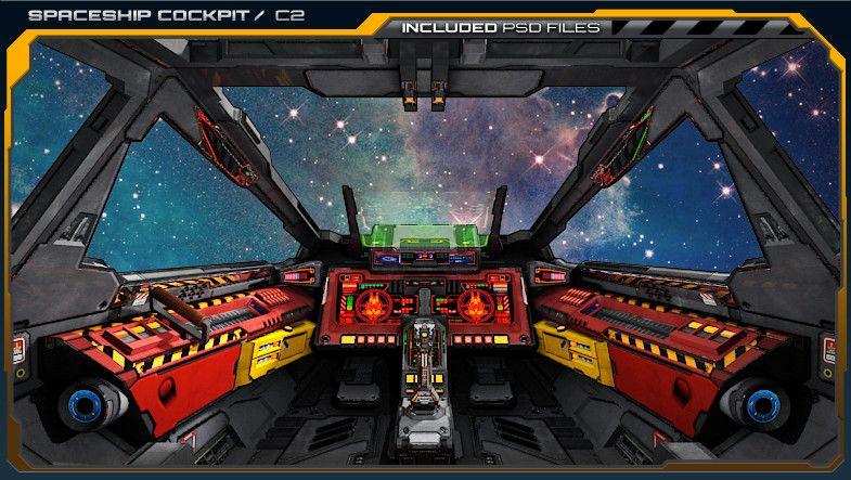 Sf Spaceship Cockpit C2 Sponsored 3d Cockpit Sf Spaceship Space