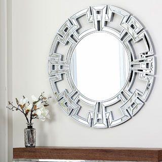 Contemporary Round Wall Mirror | Memphis Home | Round wall mirror, Oversized wall mirrors, Wall ...